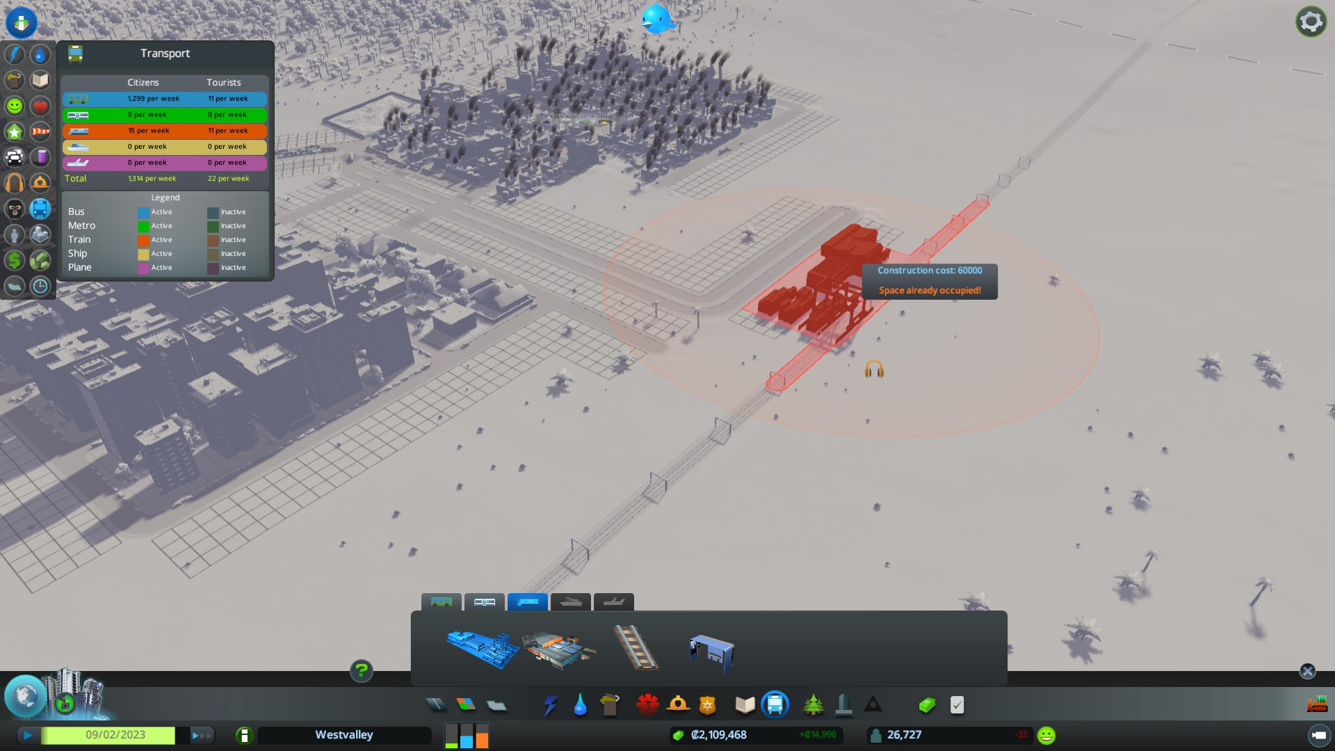Får selvsagt ikke lov til å lage togstasjon på toglinja.