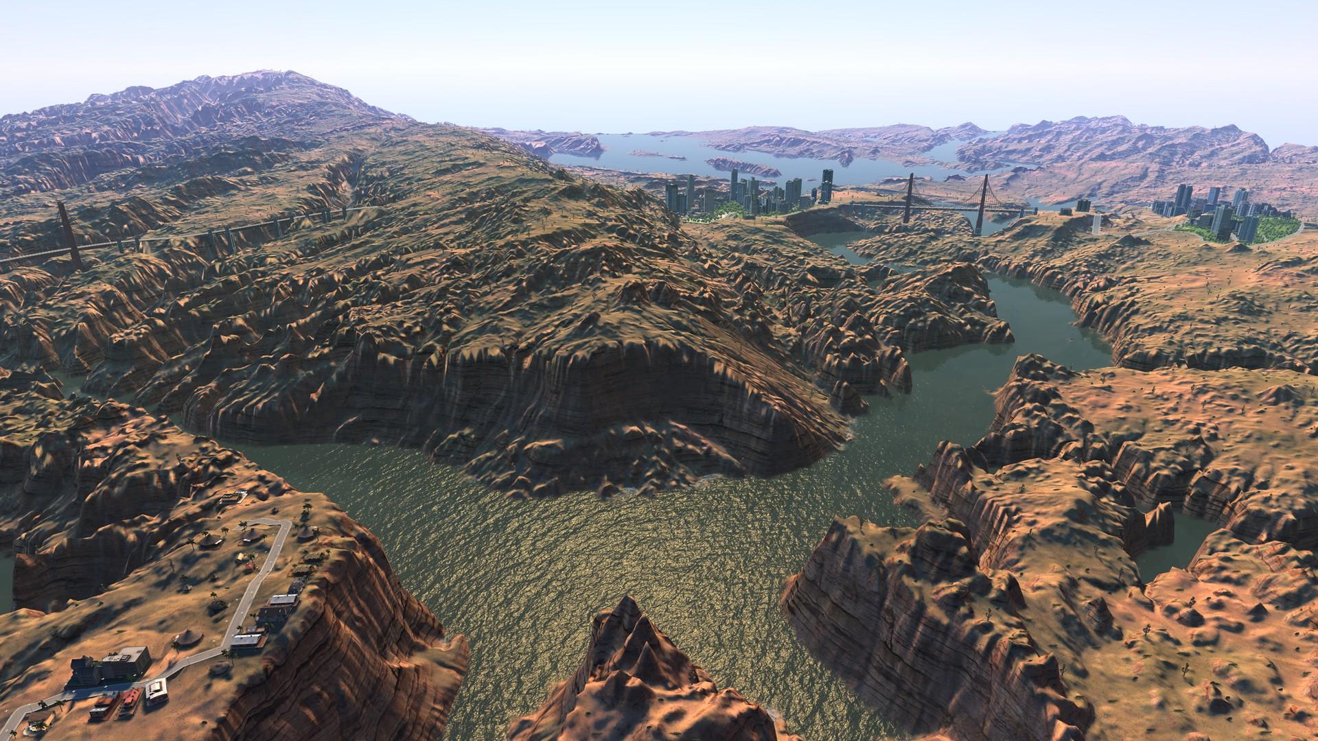 Eksempel på et Cities XL-kart. Det ser hakket penere ut, og dette er et spill som begynner å dra på årene.