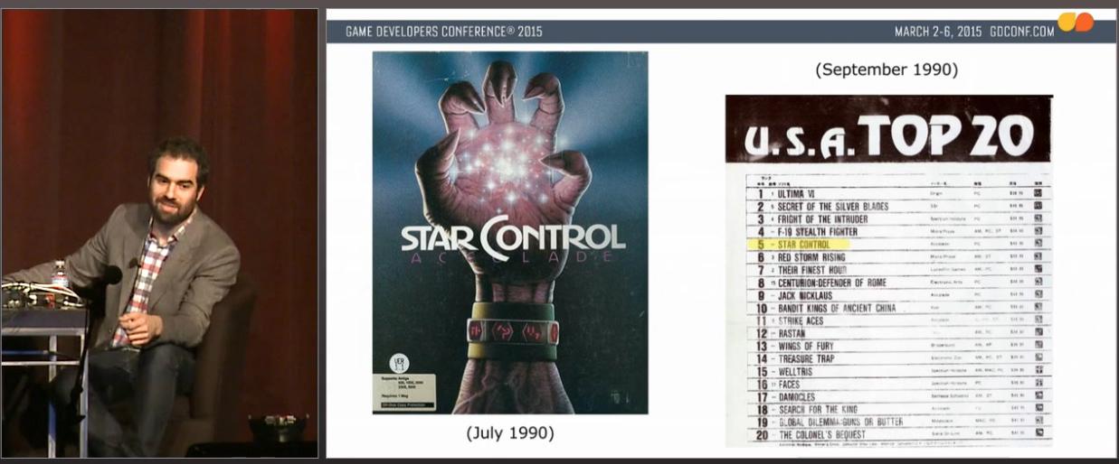 Et artig lite bilde fra Star Control: Sjekk den topplisten. Nesten bare strategi, eventyr og simulatorer!