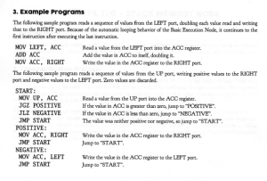 Eksempelprogram fra manualen.