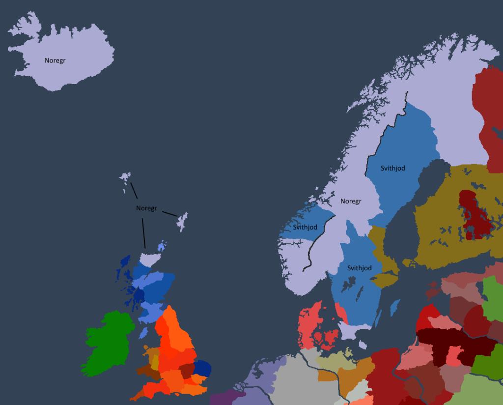 Norgesveldet da Bersi I besteg tronen.