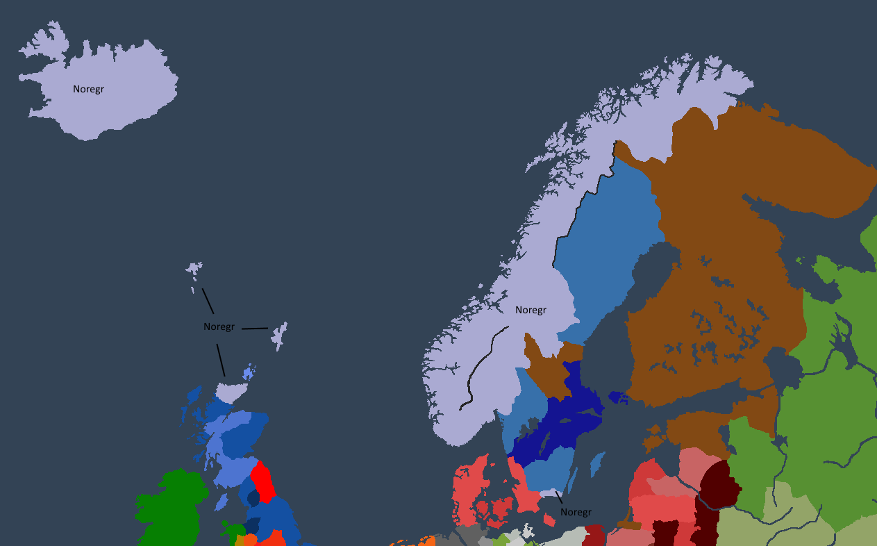 Kongeriket Norge ved Bersi IIs død.
