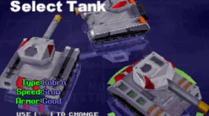Du kan velge mellom tre stridsvogner.