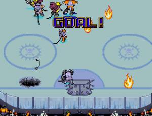 Jeg har egentlig aldri forstått ishockey. Men det virker ikke som dette spillet har offsideregler.