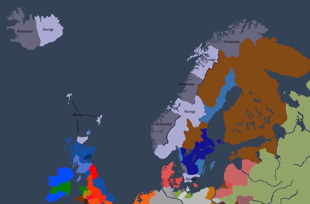 Situasjonen i Norgesveldet ved Ivar Is fall.