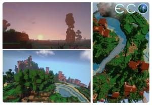 Ecos verden er mye mindre enn Minecrafts. Det er en del av utfordringen.