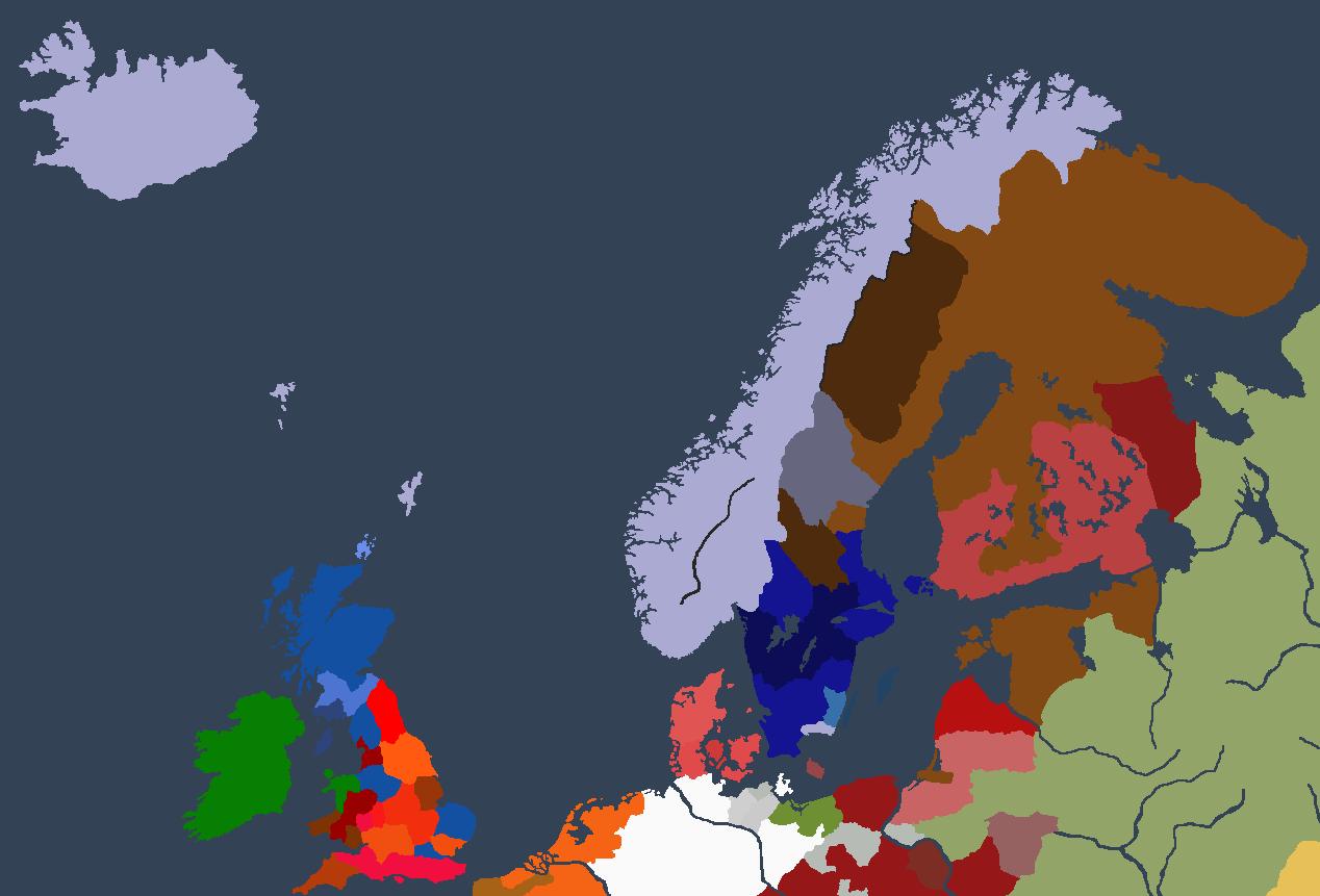Norgesveldet ved Ivar Is andre tronbestigelse.