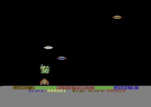 Data-Tronic-spillet Astro Panic. Det ser ikke bra ut, men det funker.