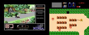 The Last Ninja sammenlignet med et annet populært actioneventyr, som kom ut samme år i vesten.
