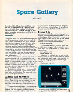Artikkelen om Space Gallery.