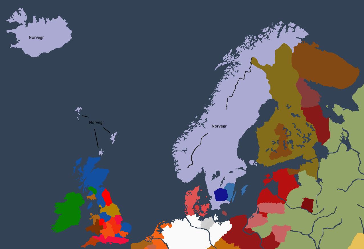 Norgesveldet ved Ragnarr Is tronbestigelse.