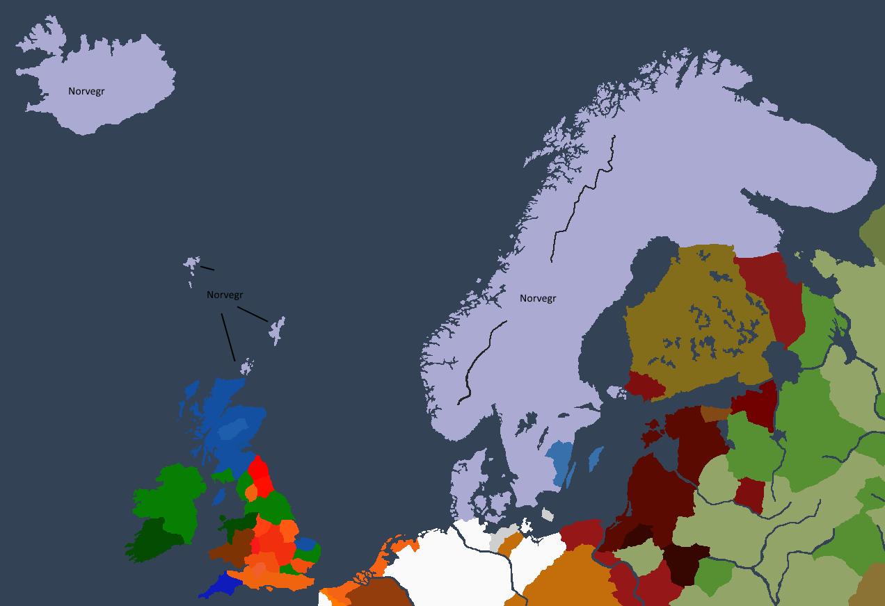 Norgesveldet ved Sveinn Is tronbestigelse.