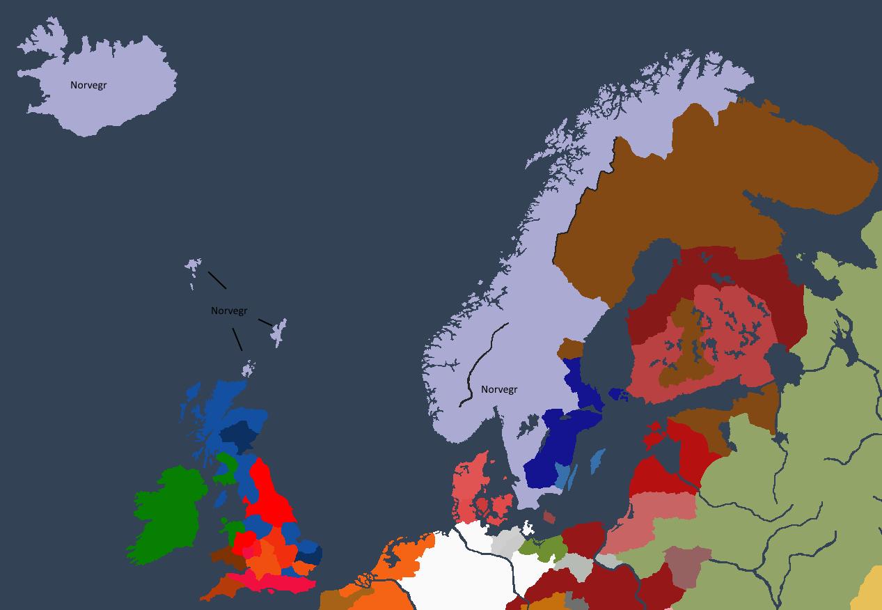 Norgeveldet ved Thordr Is tronbestigelse.