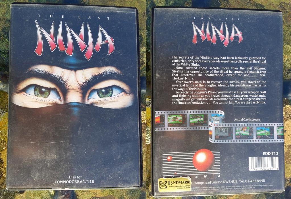 Commodore 64-boksen. Den minner egentlig om den typen bokser filmer på VHS-kassetter ble solgt i.
