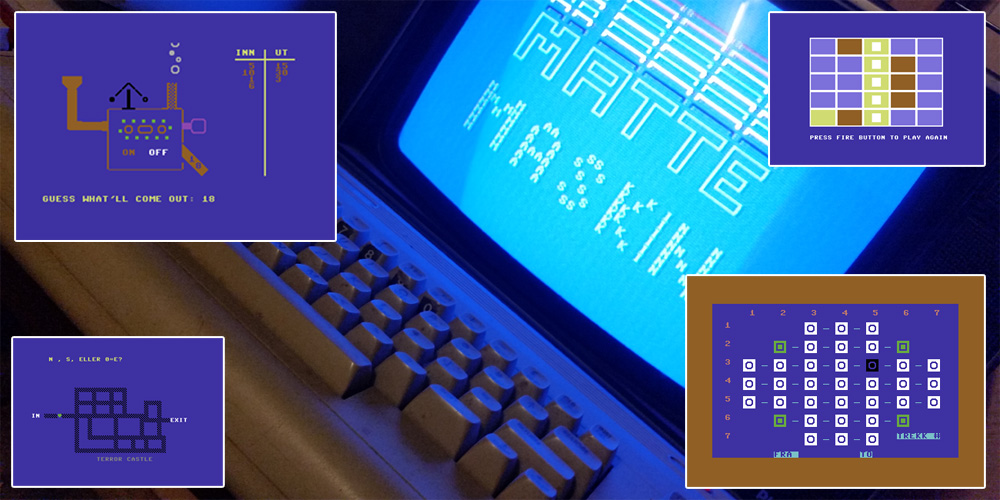 Min Commodore 64 besudles med Data-Tronic-spill.