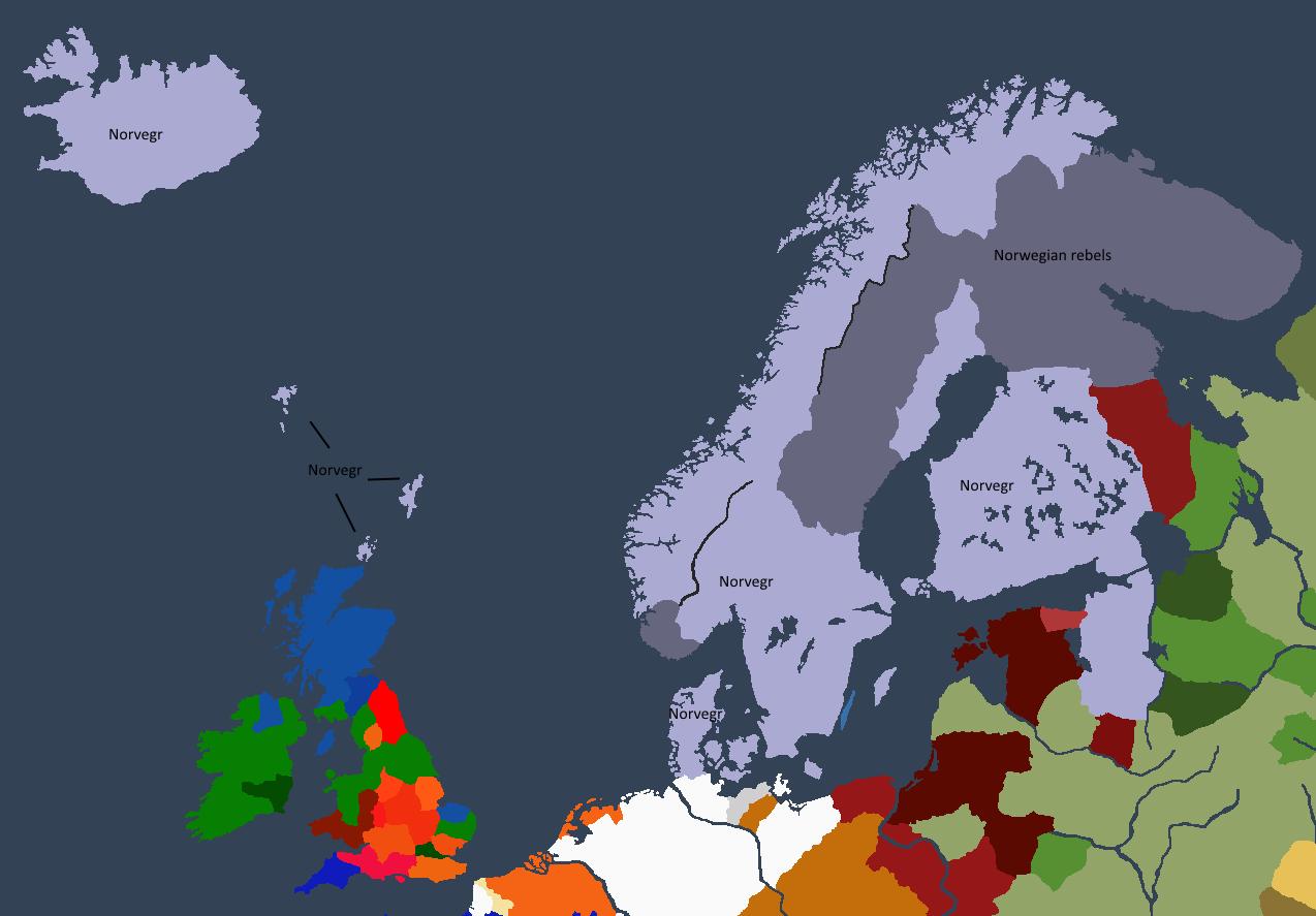 Norgesveldet ved Sveinn I «den fete» sin død.