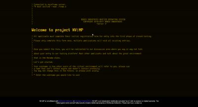 Påloggingsskjermen til hjemmesiden - ganske gjennomført.