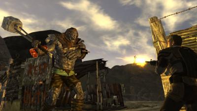 Bilde av Fallout New Vegas - mann mot supermutant