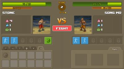 I pausene av kampene får man muligheter til å gjøre taktiske justeringer.