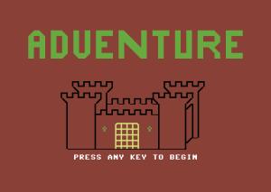 Stilig PETSCII-tittelskjerm. La oss bare ignorere det faktum at det ikke er noen slott i selve spillet.