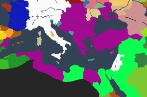 Det mektige Bysants i 1394, etter at dynastiet Batatzes gjenreiste det til en av tidens supermakter.