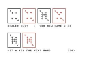 PETSCII-tegnsettet egner seg godt for kortspill.