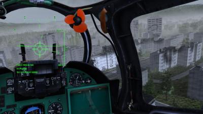 Du kan både se helikopteret utenfra, og spille med «kameraet» i cockpiten.