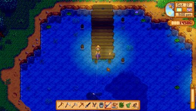 En fin liten brygge som passer perfekt til fisking.