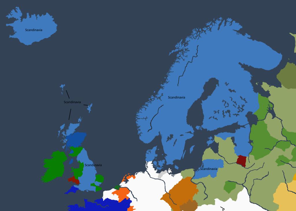 Riket ved keiser Gudrfridr Is død.