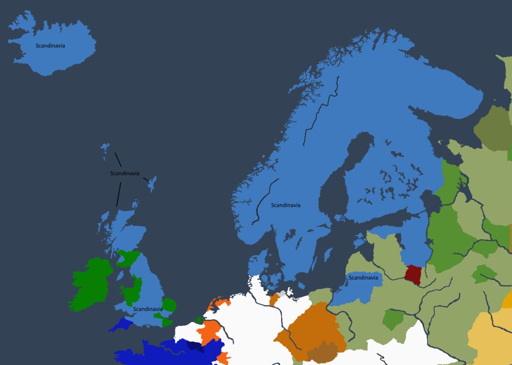 Riket ved Sigurdrr I «den Dristige» sin tronbestigelse.