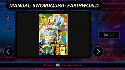 En artig tegneserie følger med SwordQuest.