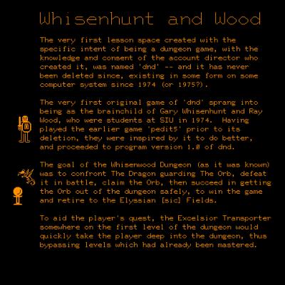 Utdrag fra spillets notat på PLATO-systemet.