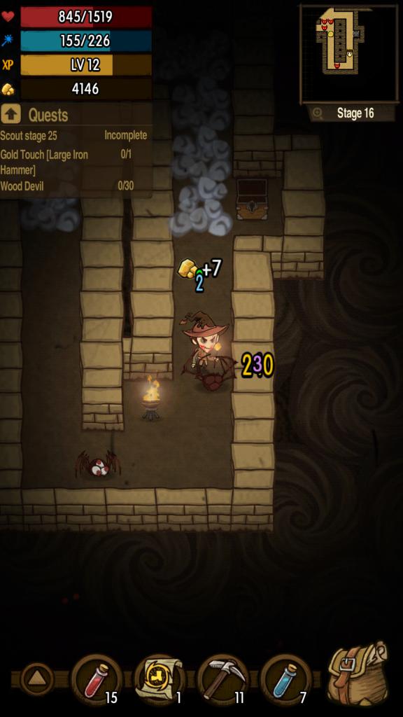 Spillet ser absolutt bra ut. Her har jeg rotet meg litt for langt ned på skumlere nivåer.