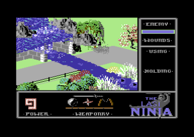 The Last Ninja på Commodore 64.