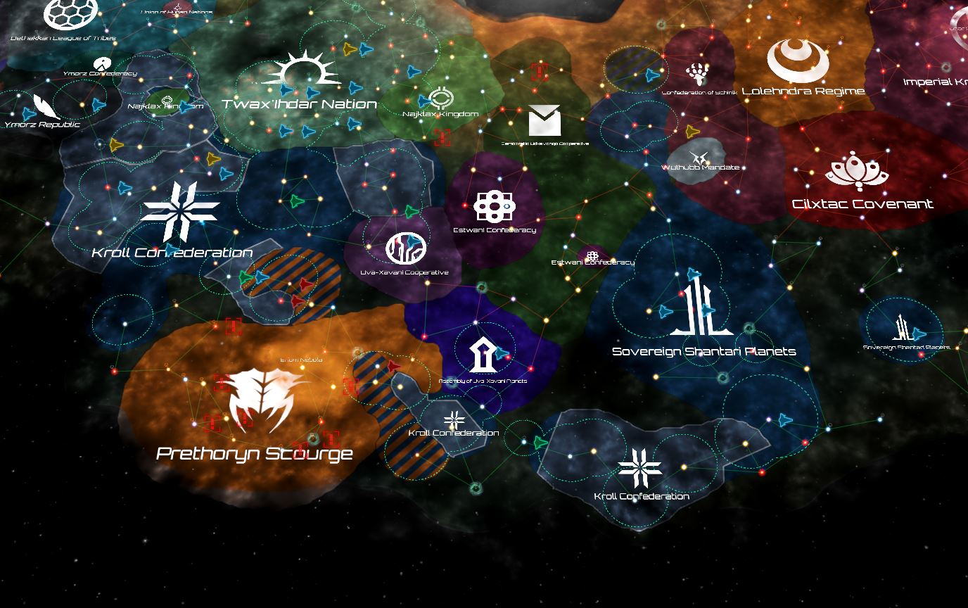 Situasjonen i 2336. Prethoryn-hordene ekspanderer stadig, og virker ustoppelige.