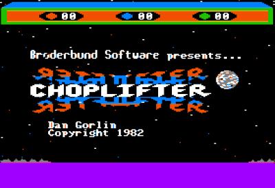 Tittelskjermen på Apple II (bilde: Huwmanbeing).