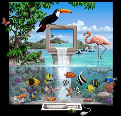 Dette ikoniske Amiga-bildet ble laget av Jim Sachs, som også lagde grafikk til Defender of the Crown.