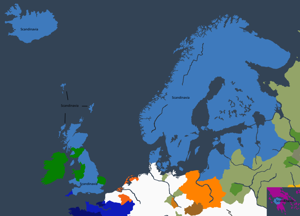 Riket ved Klar IIs tronbestigelse.