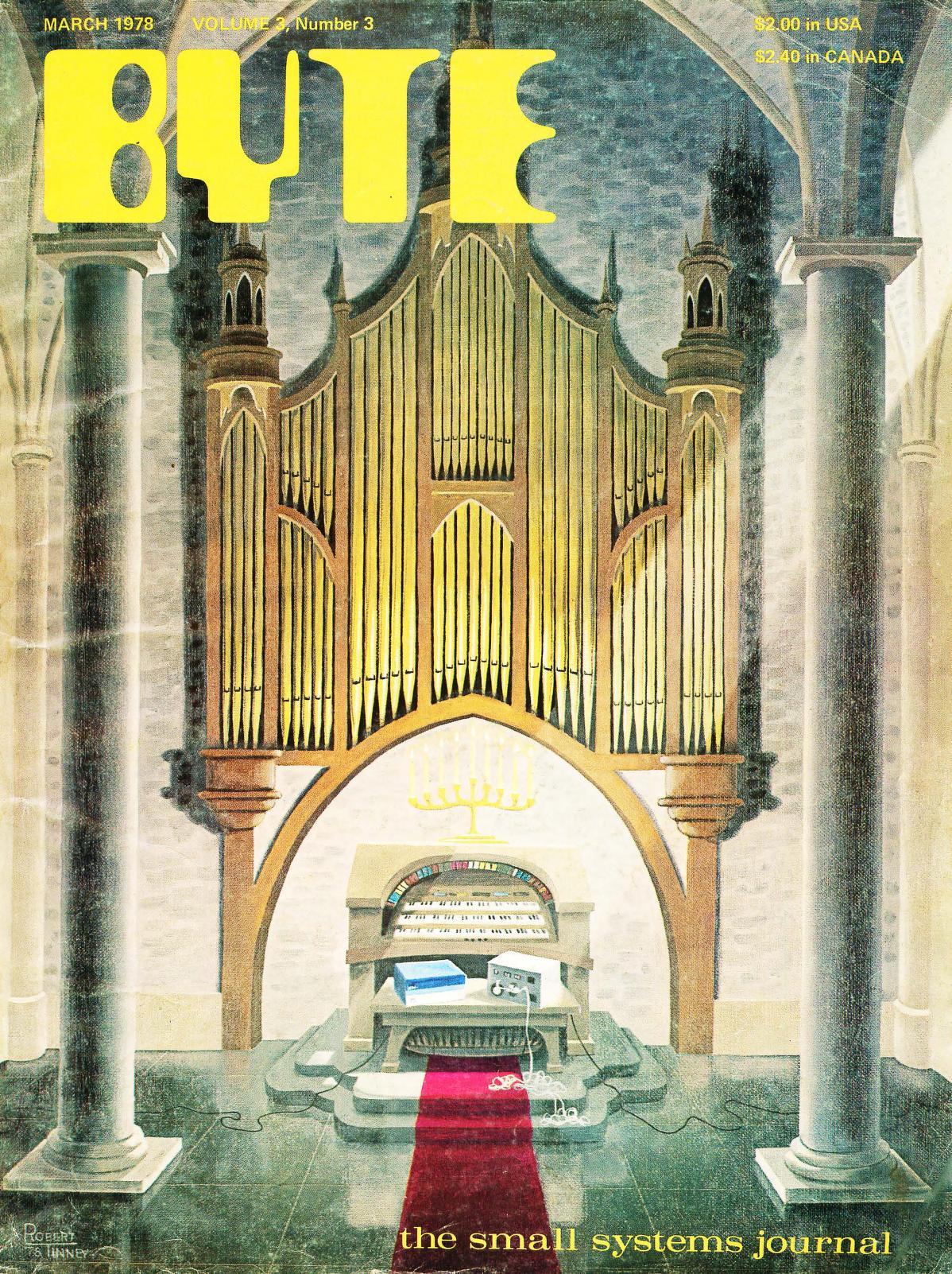 Mars 1978. Malt av Robert Tinney. Dette nummeret tar blant annet for seg hvordan man kan programmere datamaskiner til å spille på et klassisk pipeorgel.