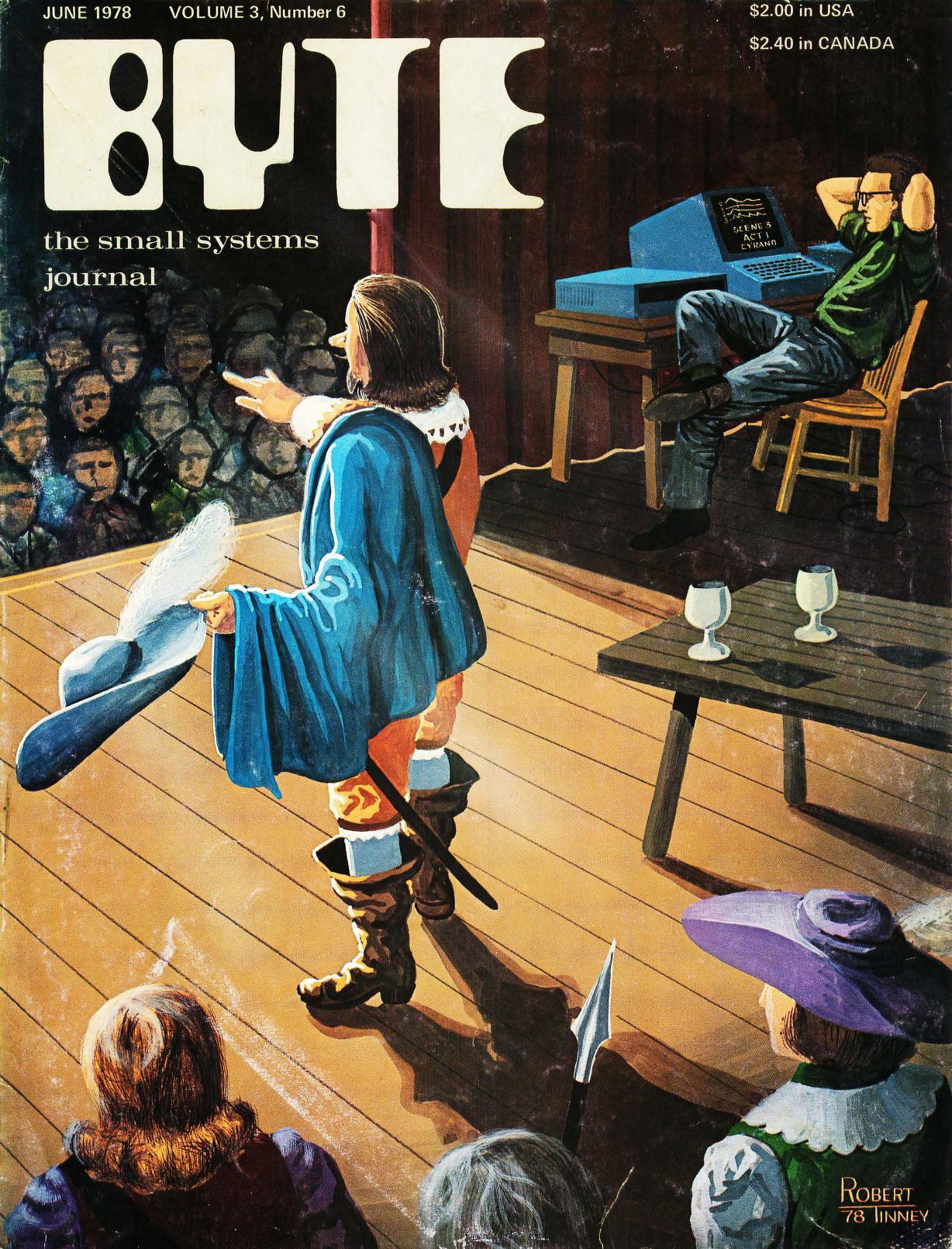 Juni 1976. Malt av Robert Tinney. Coveret er inspirert av en artikkel om hvordan datamaskiner brukes til å styre lyssettingen i et teater.