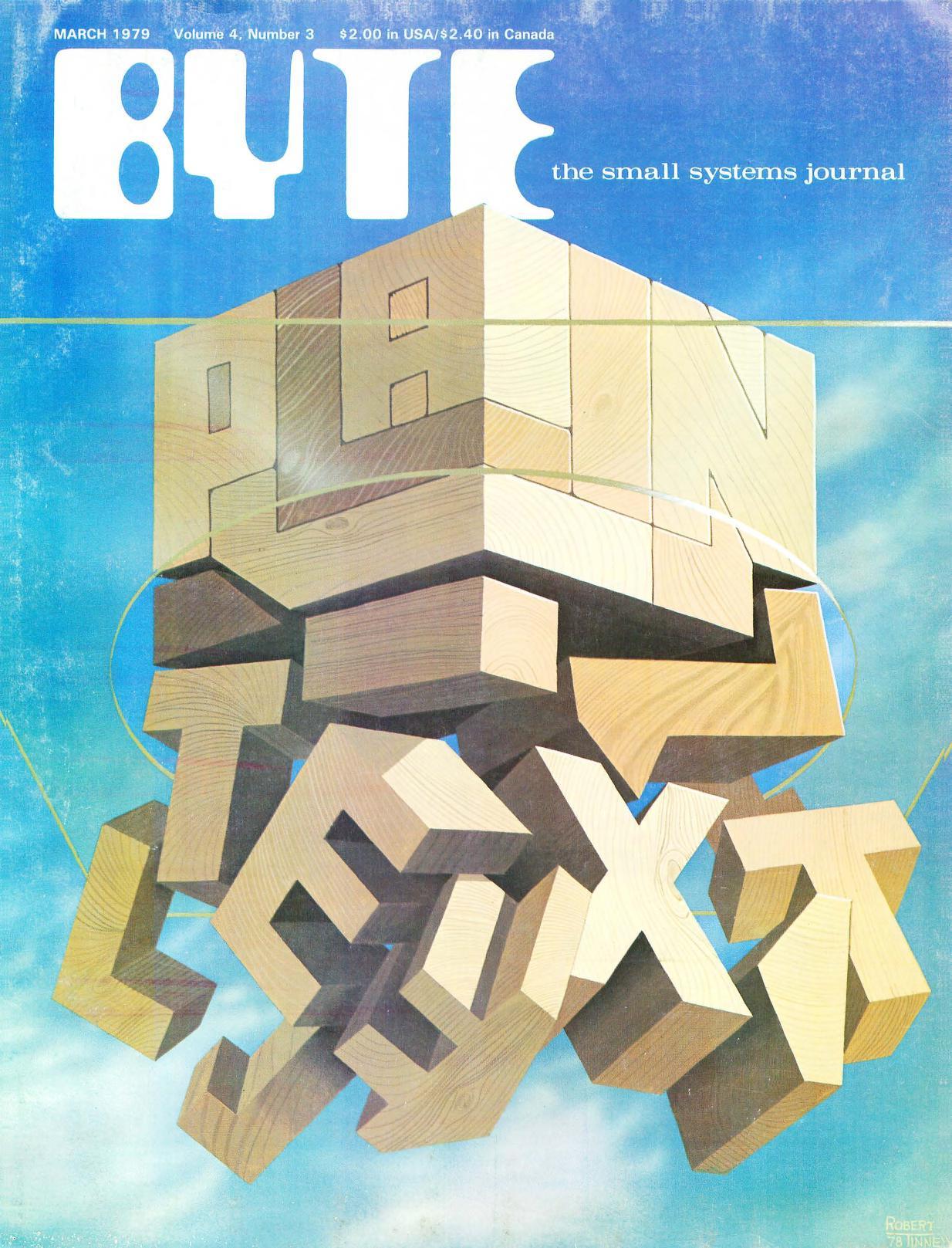Mars 1979. Malt av Robert Tinney. Bladet inneholder blant annet artikler om kryptografi, og hvordan man kan beskytte passord.