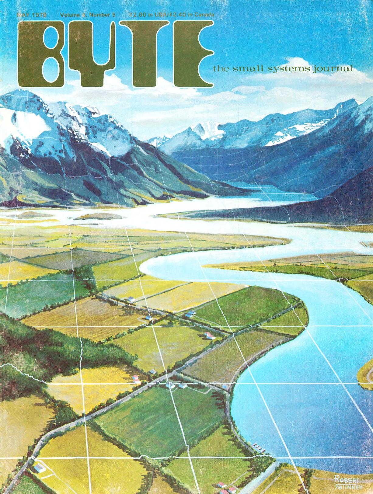Mai 1979. Malt av Robert Tinney. Dette nummeret har blant annet artikler om kartografi og hvordan datamaskiner kan representere tredimensjonale objekter.