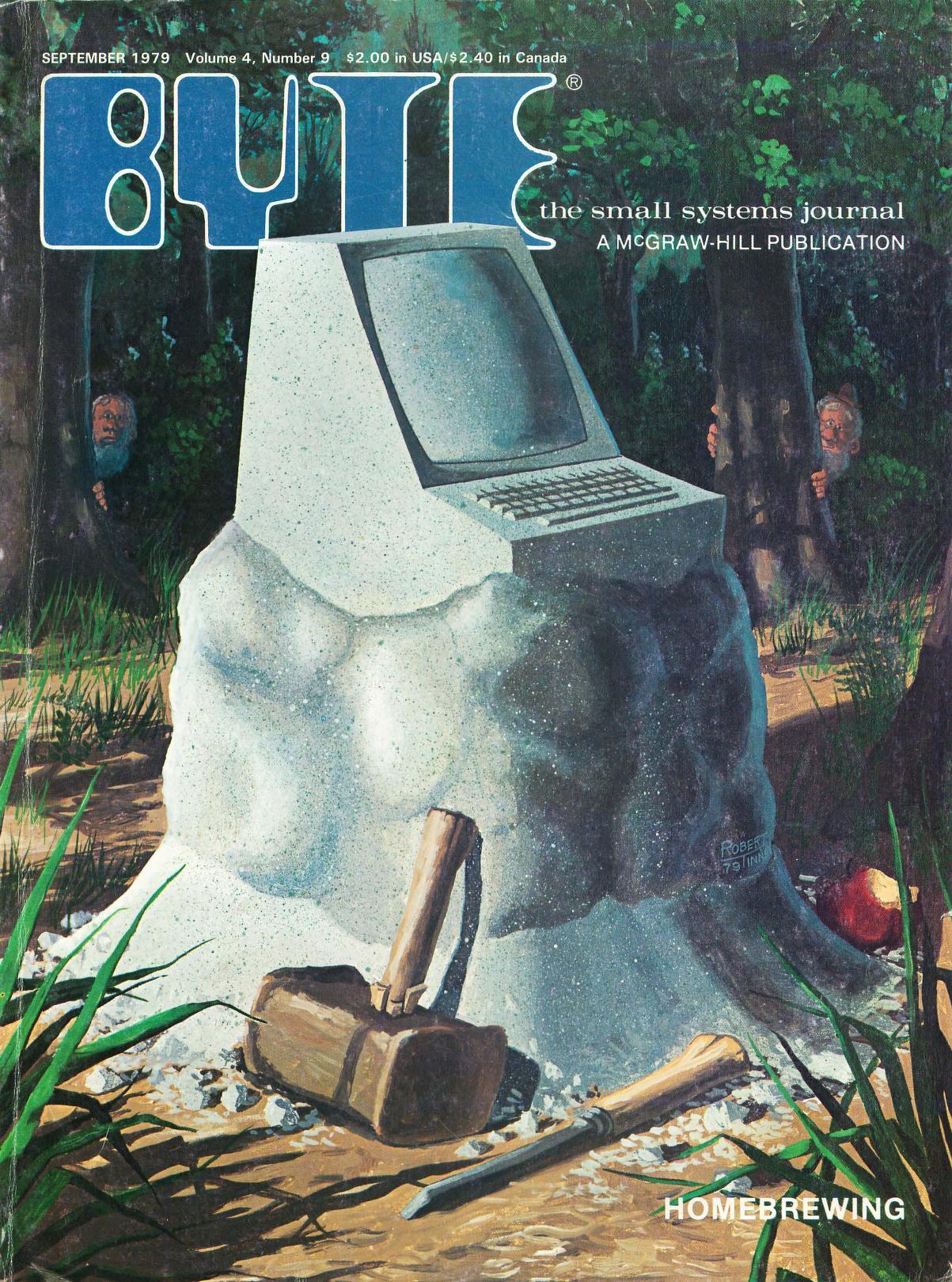September 1979. Malt av Robert Tinney. Dette nummeret fokuserer på det å designe sin egen datamaskin ved hjelp av standard-komponenter.