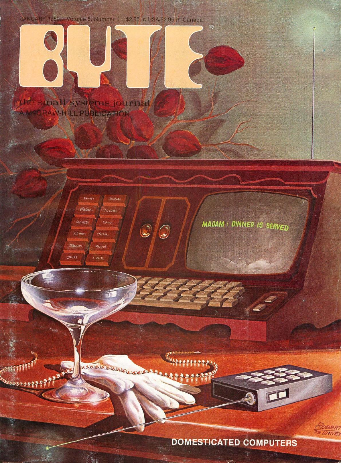 Januar 1980. Malt av Robert Tinney. Dette nummeret har blant annet artikler om noe det har vært mye snakk om i årenes løp, nemlig hvordan datamaskiner kan styre hjemmet ditt.