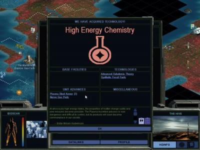 Et av spillets mange teknologier, denne introduserer blant annet nervegass til krigføringsformål.
