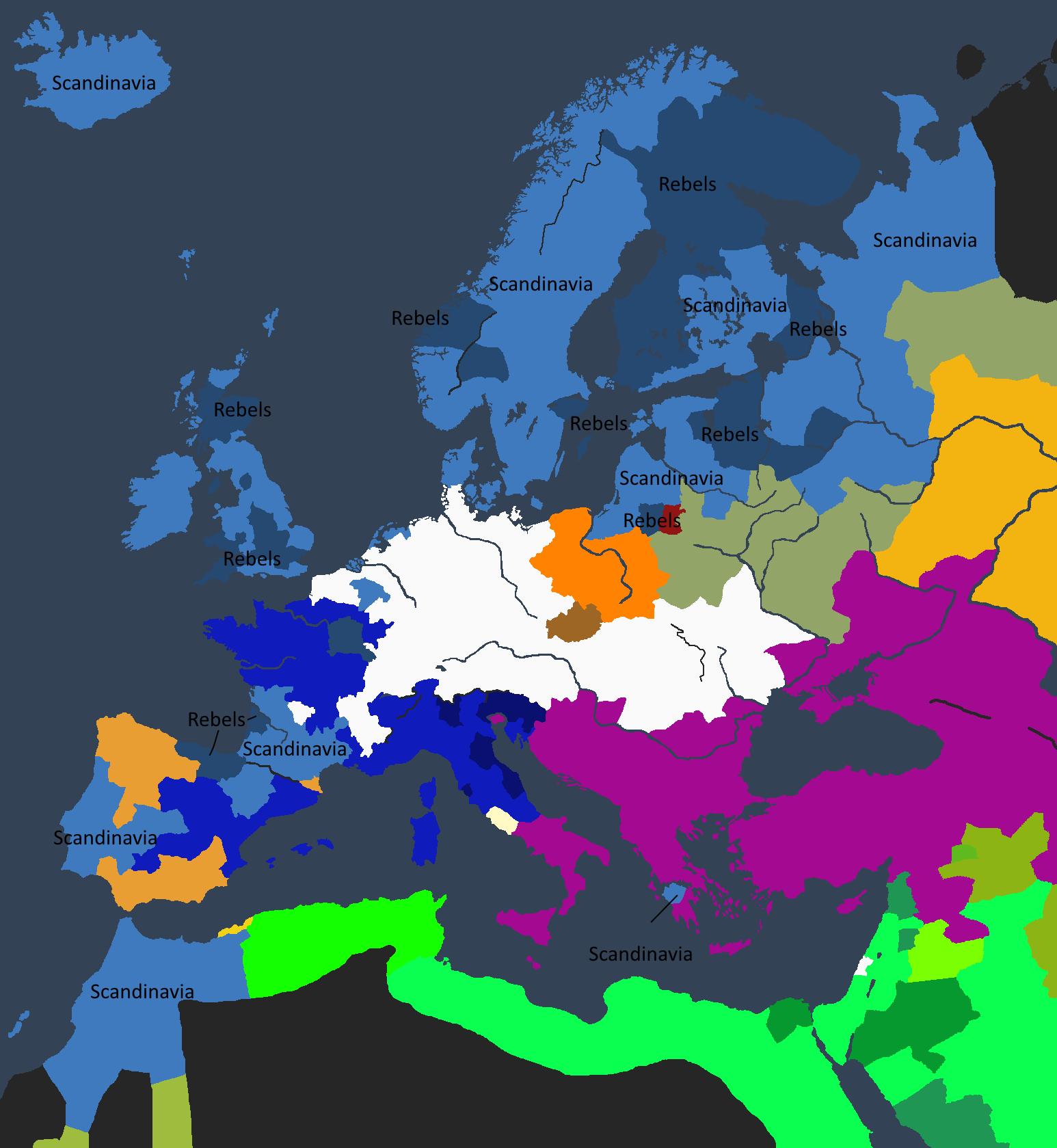 Imperiet ved Halsten Is tronbestigelse – et imperium svekket av borgerkrig.