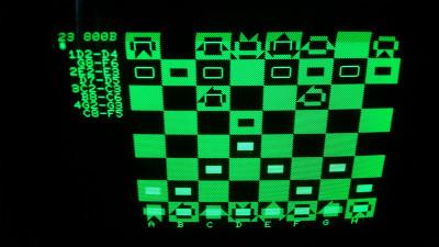 Sjakk på 35 år gammel maskinvare.
