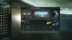 Den første skjermen man møter, er imperie-velgeren.