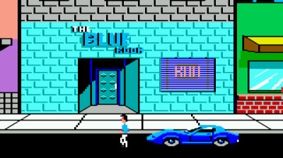Police Quest, tydeligvis med et grafikkfilter aktivert.