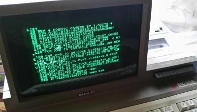 Den første delen av spillkoden på min MZ-80A. Sikkert noen bugs her.